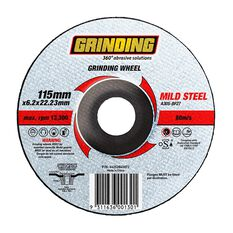 Grinding Wheel - 115mm  x  6.2mm  x  22.23mm, , scaau_hi-res