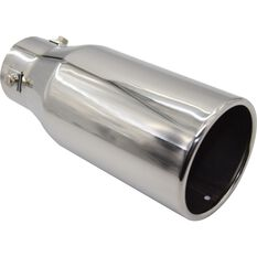 Street Series Stainless Steel Exhaust Tip - Straight Cut Rolled Tip suits 40mm to 52mm, , scaau_hi-res