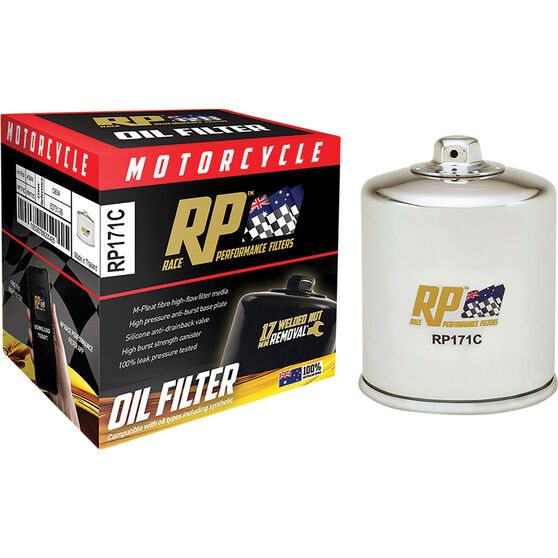 Race Performance Motorcycle Oil Filter RP171C, , scaau_hi-res