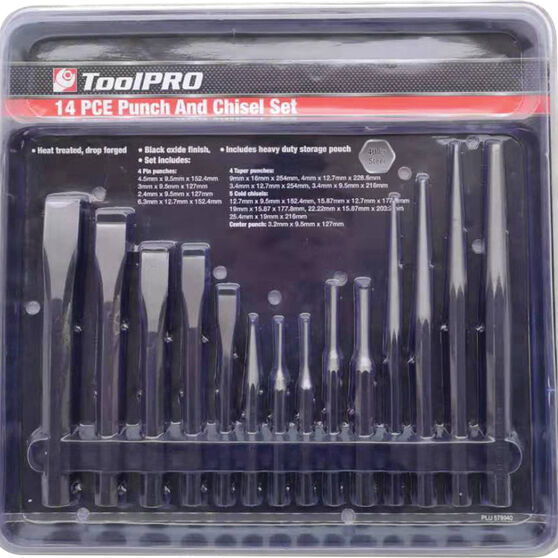 ToolPRO Punch & Chisel Set - 14 Piece, , scaau_hi-res