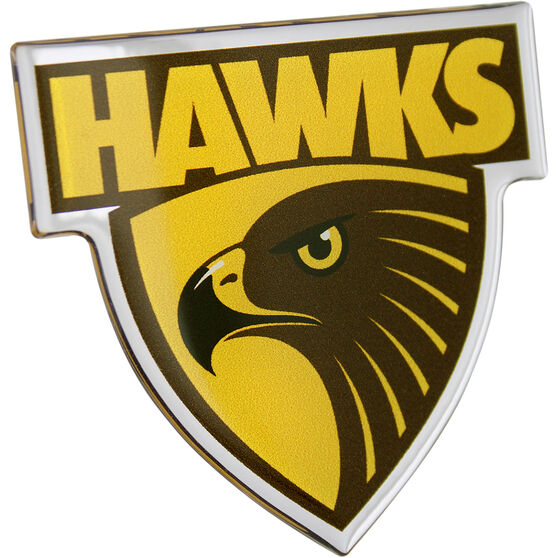 Hawthorne AFL Supporter Logo - Lensed Chrome Finish, , scaau_hi-res