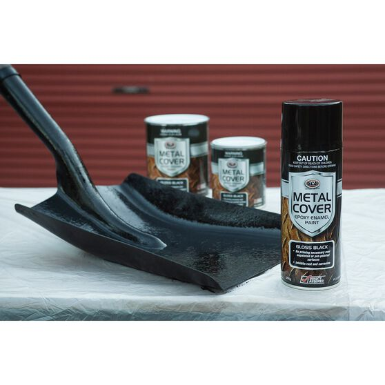 SCA Metal Cover Enamel Rust Paint Matt Black 300g, , scaau_hi-res
