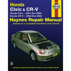 Haynes Car Manual For Honda Civic / CR-V 2001-2010 - 42026, , scaau_hi-res