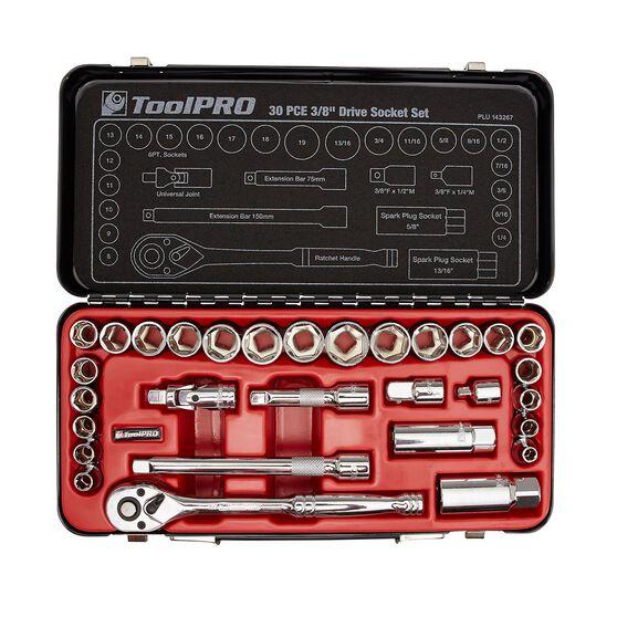 ToolPro Socket Set - 3 / 8 inch Drive, Metric / Imperial, 30 Piece, , scaau_hi-res