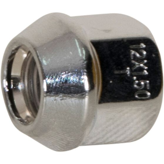Calibre Wheel Nuts, Tapered Open End, Chrome - OEN12150, 12mm x 1.5mm, , scaau_hi-res