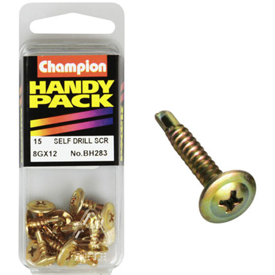 Champion Self Drilling Screws - 8G X 22, BH283, Handy Pack, , scaau_hi-res