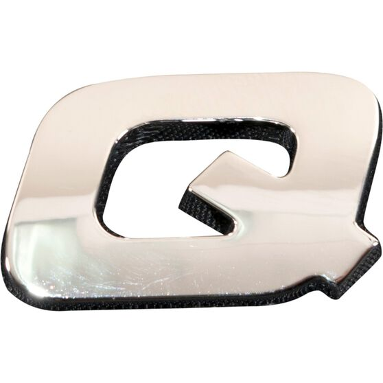 SCA 3D Chrome Badge Letter Q, , scaau_hi-res