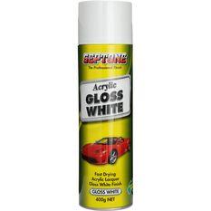 Septone Acrylic Aerosol Paint - Gloss White, 400g, , scaau_hi-res