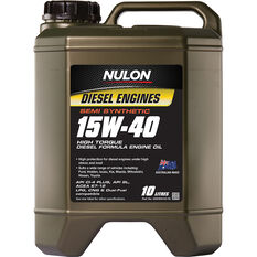 Nulon Semi Synthetic High Torque Diesel Engine Oil 15W-40 10 Litre, , scaau_hi-res