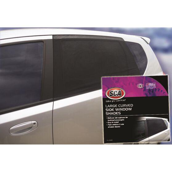 SCA Window Shade - Side, Large Curved, Black, Pair, , scaau_hi-res