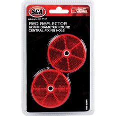 Reflector - Round, 60mm, Red, 2 Pack, , scaau_hi-res