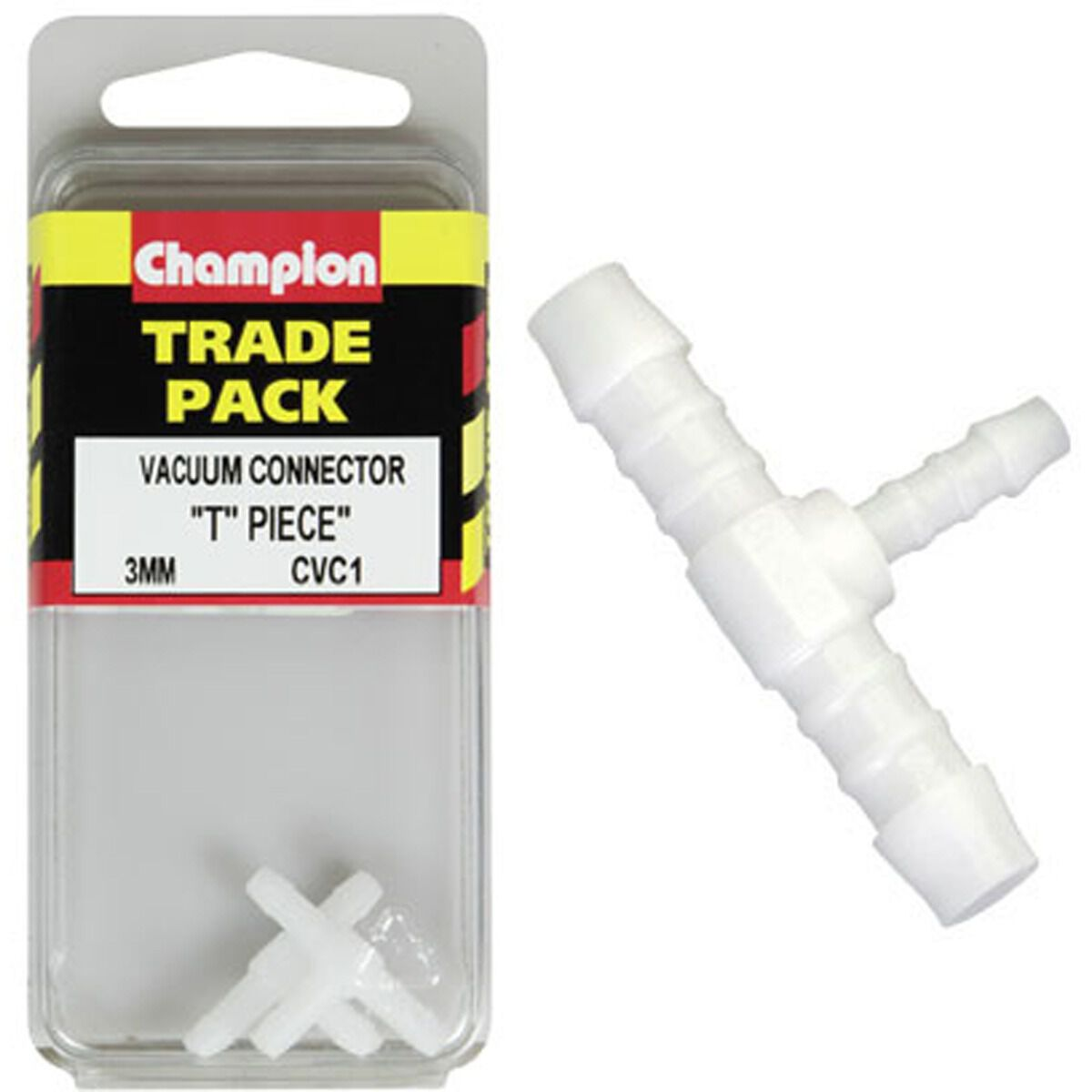2 x 3mm Three Way Windscreen Washer T Piece Tubing Connector Extender