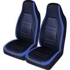 SCA Racing Seat Covers - Front Pair - Blue / Black, , scaau_hi-res
