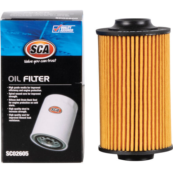 SCA Oil Filter - SCO2605 (Interchangeable with R2605P), , scaau_hi-res