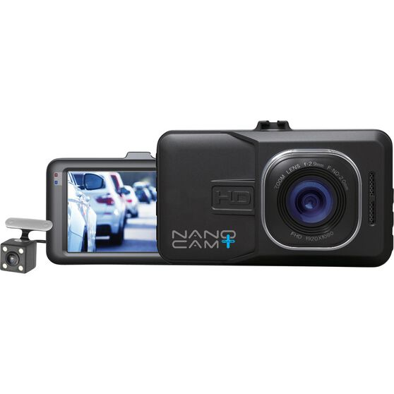 NanoCam Plus 3-In-1 Front & Rear Dash Cam with Reversing Camera - NCP-DVRT1, , scaau_hi-res