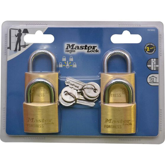 Master Lock Fortress Padlock - 40mm, 4 Pack, , scaau_hi-res