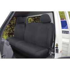 SCA Canvas Ute Seat Covers - Charcoal/Grey, Size 301, Front Bucket and Bench (w/out cut out), , scaau_hi-res