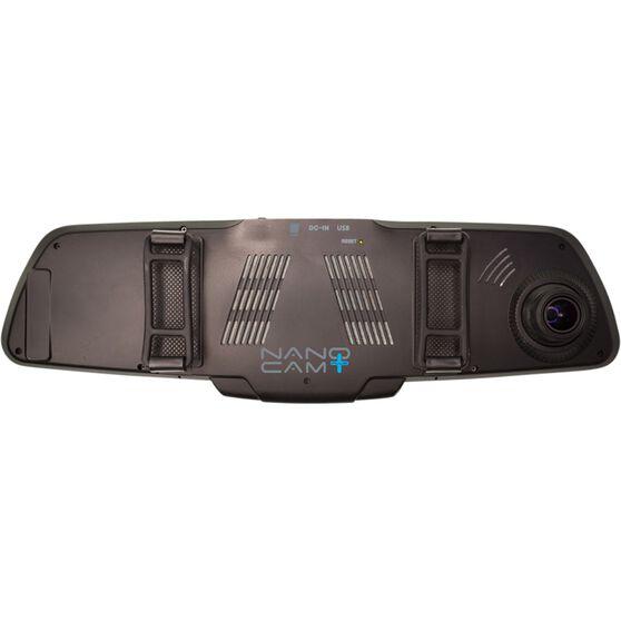 NanoCam Plus 1080p HD Mirror Mounted Dash Cam With 720p Rear Recording Camera - NCP-MIRDVRHD2, , scaau_hi-res
