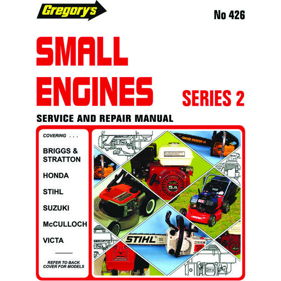 Gregory's Service and Repair Manual Small Engines - 426, , scaau_hi-res
