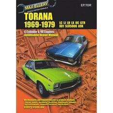 Max Ellery Car Manual For Holden Torana 1969-1979 - EP.TOR, , scaau_hi-res