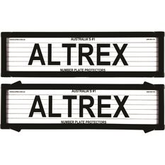 Altrex Number Plate Protector - 6 Figure, Slimline, With Lines, 6VSL, , scaau_hi-res