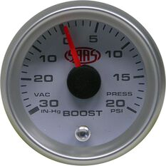 Gauge - White Face, 52mm, Boost, , scaau_hi-res