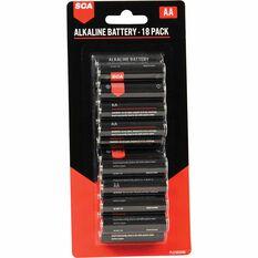SCA Heavy Duty Alkaline AA Batteries - 18 Pack, , scaau_hi-res