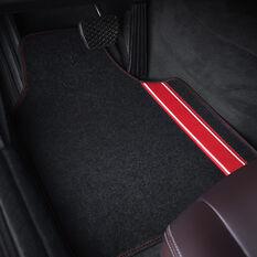 SCA Racing Car Floor Mats - Carpet, Black / Red, Set of 4, , scaau_hi-res