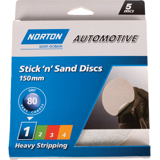 Norton Sticky Disc - 80 Grit, 5 Pack, , scaau_hi-res
