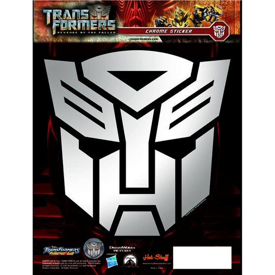 Hot Stuff Sticker - Transformers Autobots, Chrome, , scaau_hi-res