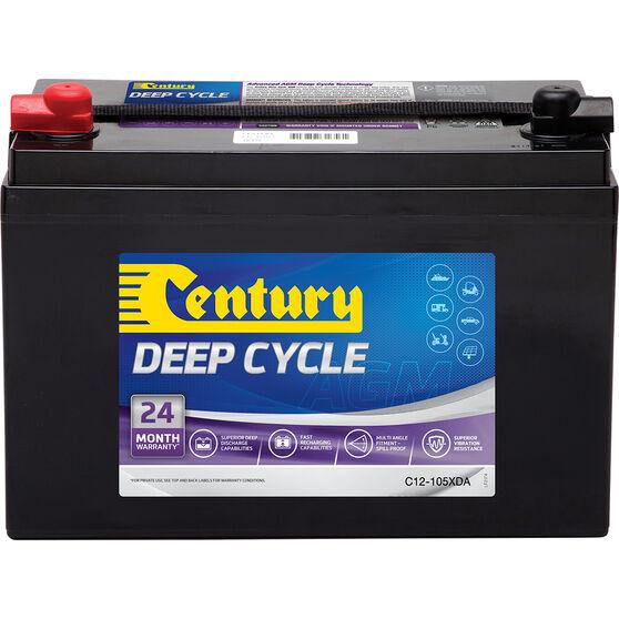 Century Deep Cycle Battery - C12-105XDA, 105Ah, , scaau_hi-res