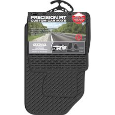 Custom Rubber Floor Mats - Black, 3 Pce, Suits Mazda 3 Hatch 02/14+, , scaau_hi-res