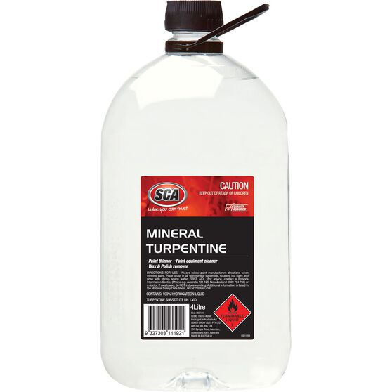 SCA Mineral Turpentine - 4 Litre, , scaau_hi-res