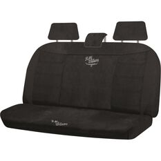 Suede Velour Seat Cover - Black, Adjustable Headrests, Size 06H, Rear Seat, , scaau_hi-res