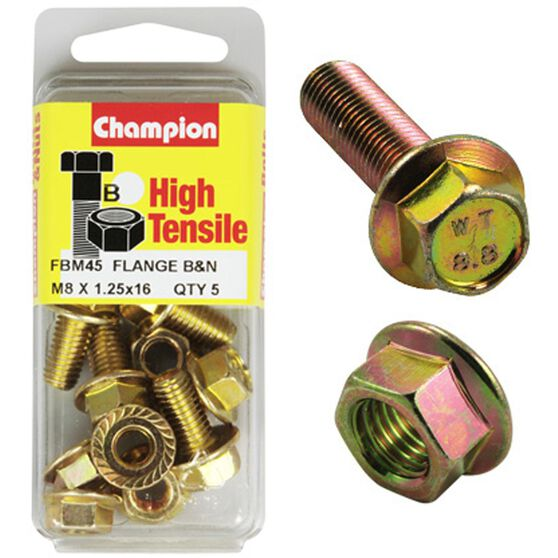 Flange Bolts - M8x16, High Tensile, , scaau_hi-res