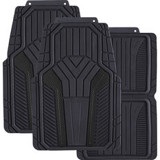 SCA Carbon Fibre Car Floor Mats - Black Set of 4, , scaau_hi-res