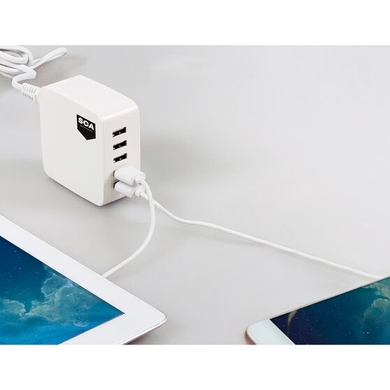 SCA 5 Port USB Charging Station - 240V, , scaau_hi-res