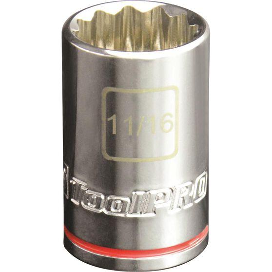 ToolPRO Single Socket - 1 / 2 inch Drive, 11 / 16 inch, , scaau_hi-res