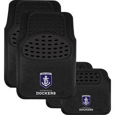 Fremantle Dockers Floor Mats - Black, Set of 4, , scaau_hi-res