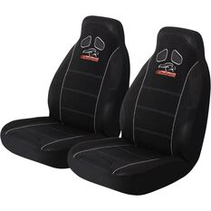 Performance Racing Seat Covers - Black, Built-in Headrests, Size 60, Front Pair, Airbag Compatible, , scaau_hi-res