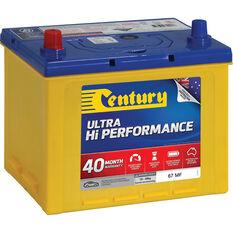 Century Ultra Hi Performance Car Battery 67 MF, , scaau_hi-res