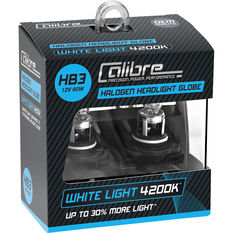 Calibre Headlight Globe HB3 12V 60W White Light, , scaau_hi-res
