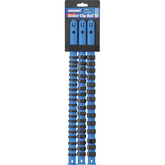 "Kincrome Socket Rail Set 1/4, 3/8 & 1/2"" Drive 3 Piece, , scaau_hi-res"