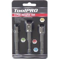 "ToolPRO Drill Adaptor Set 1/4"" 3/8"" & 1/2"" 3 Piece, , scaau_hi-res"