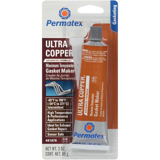 Permatex RTV Silicone Gasket Maker, Maximum Temperature - Ultra Copper, 85g, , scaau_hi-res