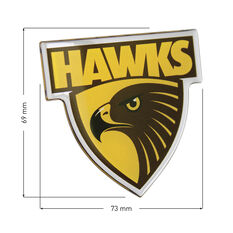 Hawthorne AFL Supporter Logo - Lensed Chrome Finish, , scaau_hi-res