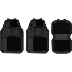 SCA Heavy Duty Combo Floor Mats Carpet/Rubber Black Set of 4, , scaau_hi-res