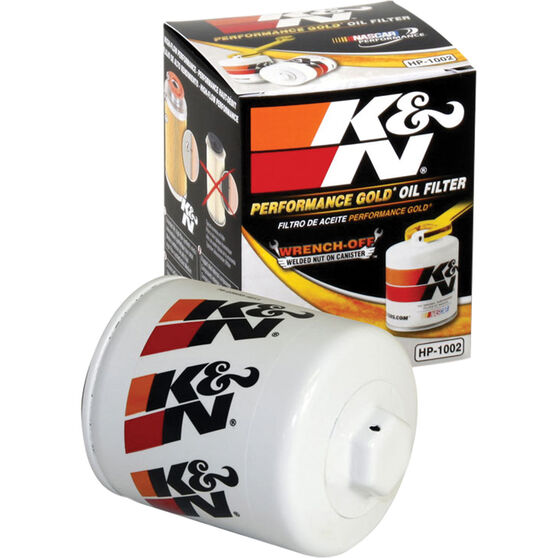 K&N Wrench Off Performance Gold Oil Filter  HP-1002 (Interchangeable with Z418), , scaau_hi-res
