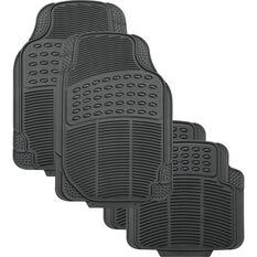 SCA Defend Car Floor Mats - Rubber, Grey, Set of 4, , scaau_hi-res