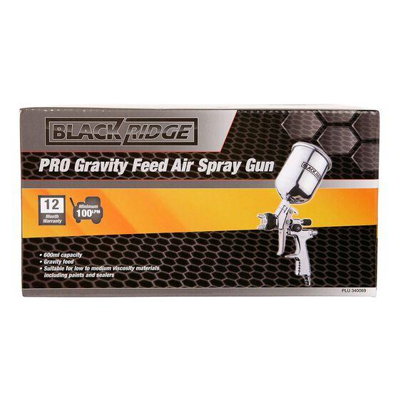 Blackridge Air Spray Gun Gravity Feed, Pro - 600mL, , scaau_hi-res